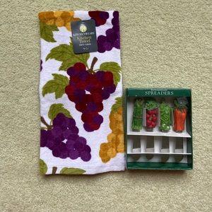 Boston Warehouse Spreaders & Kitchenwears Towel